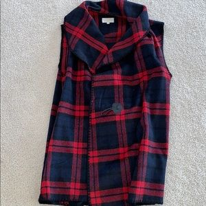 NWOT - Red and Navy Blue Vest - One Size fits All